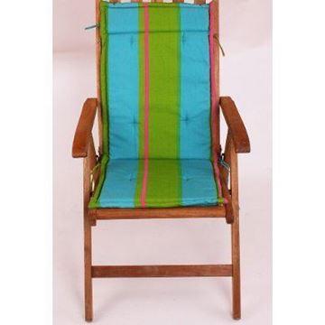 Resim Koton Çift Kademeli Yeşil Çizgili sandalye minderi Minderi