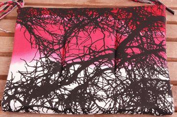 Resim Koton Pembe Ağaç Desen Sandalye Minderi