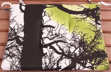 Resim Koton Yeşil Ağaç Desen Sandalye Minderi