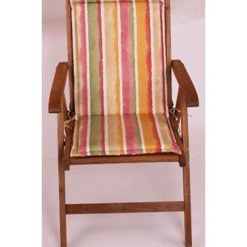 Resim Koton Polyester Çift Kademeli Taba Çizgili Sandalye Minderi