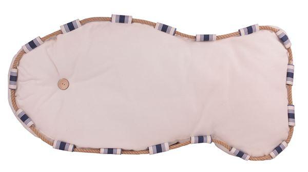 resm Yastıkminder Koton  Beyaz Balık Formunda Dekoratif Minder
