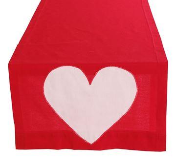 Resim Koton Kırmızı Beyaz Kalpli Runner
