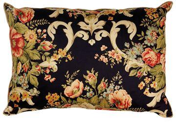 Resim Yastıkminder Koton Siyah Sarı Çiçek Dal Desenli Büyük Dekoratif Yastık