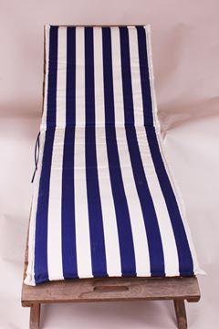 Resim Koton Lacivert Beyaz Çizgili Şezlong Minderi