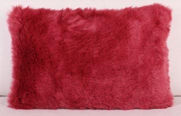 Resim Polyester Pelüş Pembe Dekoratif Yastık Kılıfı