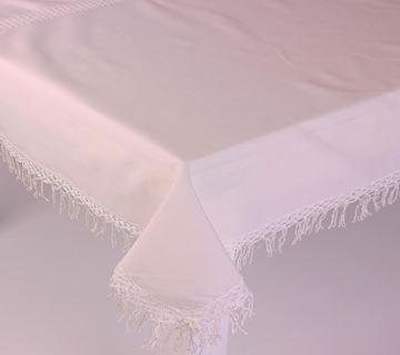 Resim Koton Beyaz Dantel Saçaklı Dikdörtgen Masa Örtü