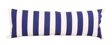 Resim Koton Lacivert Beyaz Çizgili Dekoratif Yastık Kılıfı