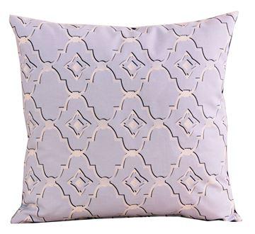 Resim Koton Lacivert Mavi Geometrik Desenli Dekoratif Yastık Kılıfı