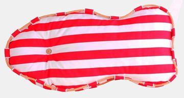 Resim Yastıkminder Koton Kırmızı Beyaz Balık Formunda Dekoratif Minder