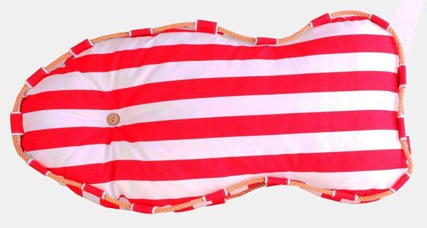 resm Yastıkminder Koton Kırmızı Beyaz Balık Formunda Dekoratif Minder