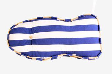 Resim Yastıkminder Koton Lacivert Beyaz Balık Formunda Dekoratif Minder