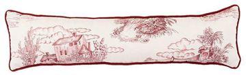 Resim Yastıkminder Koton Bordo Kemik Toile Du Jouy Desen Dekoratif Yastık