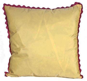 Resim Yastıkminder Tafta Sarı Pembe Fistolu Dekoratif Yastık KILIFI