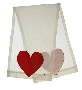 Resim Koton Beyaz Kırmızı Kalp Aplikeli Runner