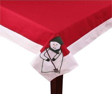 Resim Koton Kırmızı Yeşil Kardan Adam Dikdörtgen Masa Örtü